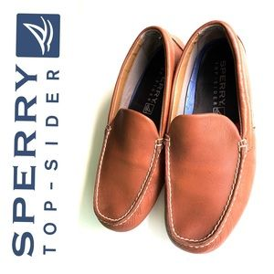 Sperry Brown Leather slip on loafer dress shoes
